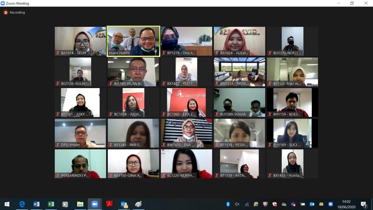 """Training ONLINE dg Perbarindo dan Bank Indonesia Tentang """"Pengelolaan Uang Rupiah""""  18 Juni 2020"""